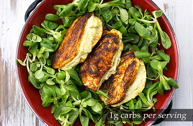 Keto Creamy Pesto-stuffed Chicken Breasts
