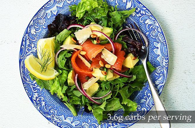 Keto Best Smoked Salmon Salad