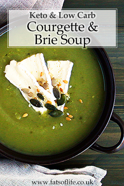 Keto Courgette and Brie Soup