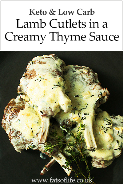 Keto Lamb Cutlets in Creamy Thyme Sauce