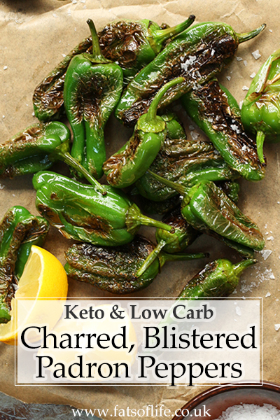 Charred Padrón Peppers (Keto)