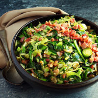 Cabbage and Bacon Stir fry