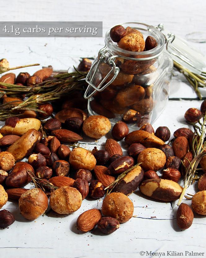 Keto Spicy Rosemary Nuts