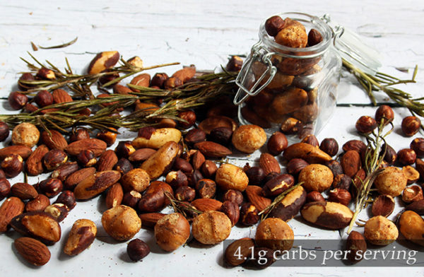 Keto Spicy Rosemary Nuts