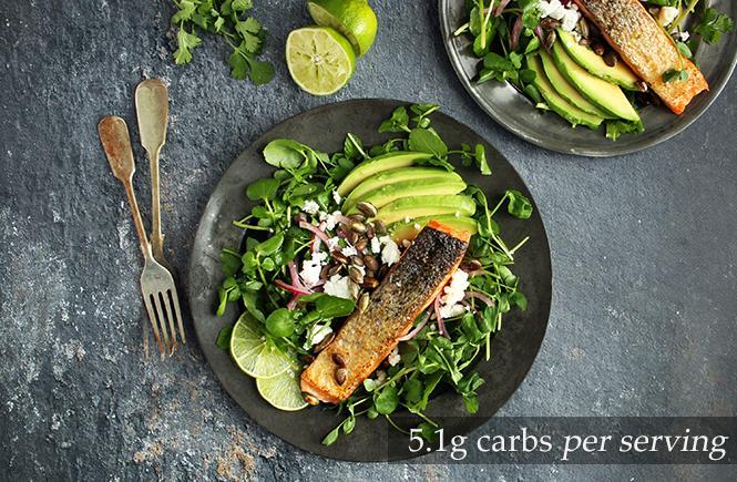 Keto Salmon Avocado Salad