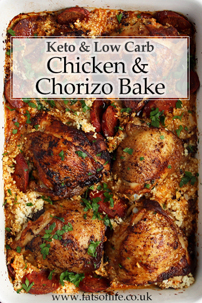 Smoked Paprika Chicken & Chorizo Bake (Low-carb)