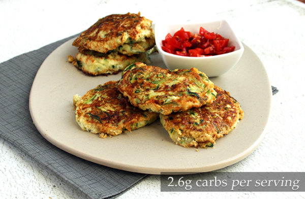 Keto Courgette Cheese Fritters