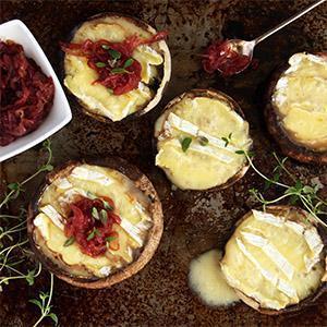 Grilled Brie Mushrooms