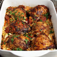 Keto Chicken and Chorizo Bake