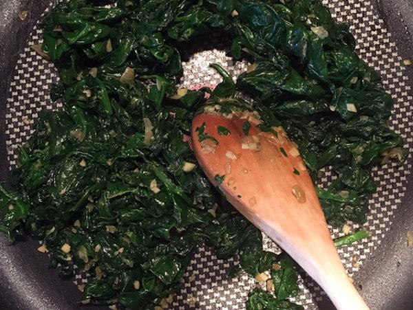 Keto Creamed Spinach Prep
