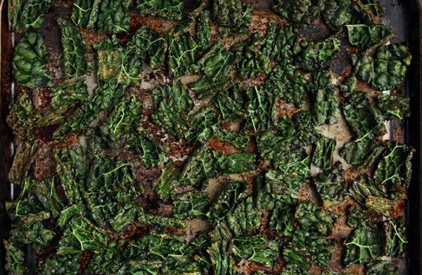 Keto Kale Chips prep