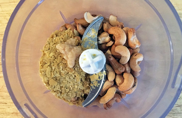 Cashew Nut Cheese Sauce - prep