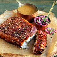 Keto Pork Belly with gravy