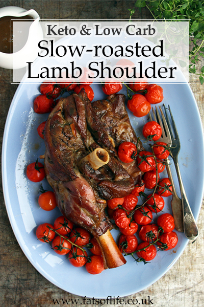Slow-cooked Lamb Shoulder with Roasted Cherry Tomatoes