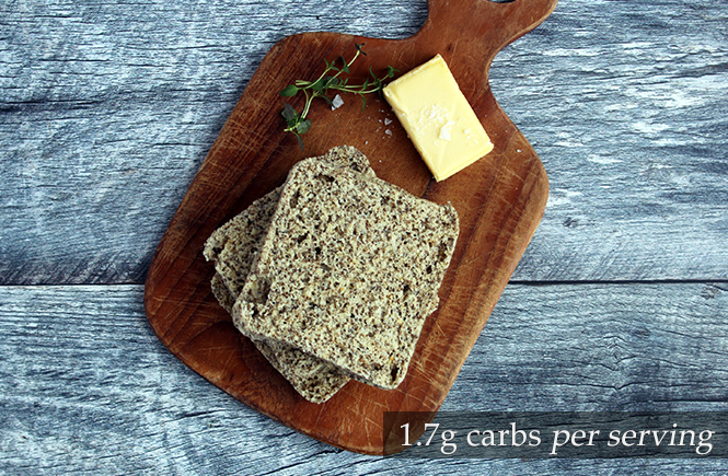 90 second Keto Microwave Chia Bread