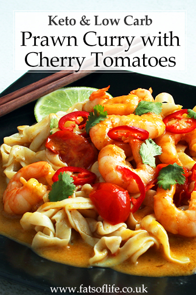Thai Prawn Curry with Cherry Tomatoes (Low carb)