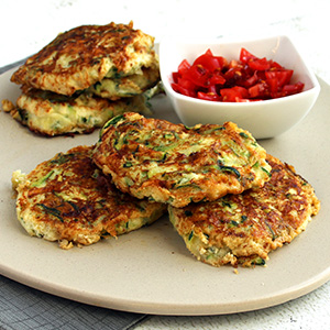 Courgette Cheese Fritters