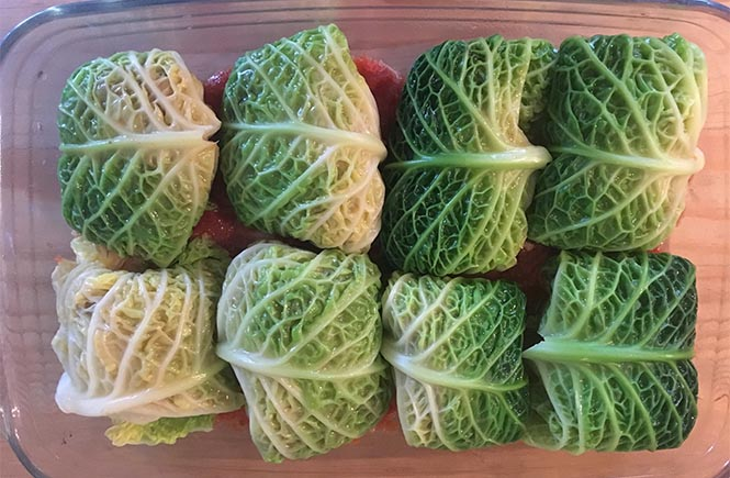 Keto Cabbage Mince Rolls