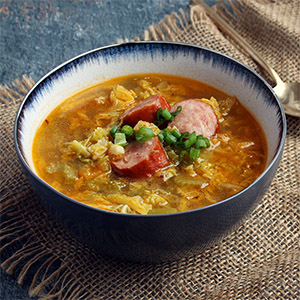 Low Carb Sausage and Cabbage Soup