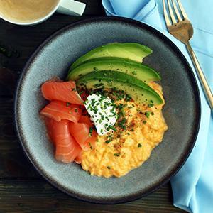 Posh Keto Salmon Breakfast