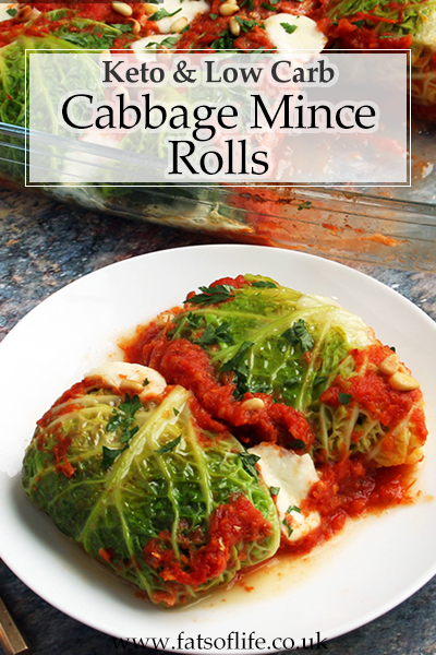 Low-carb Cabbage and Mince Rolls