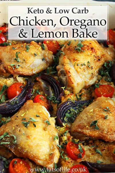 Low-carb Chicken, Lemon and Oregano Bake