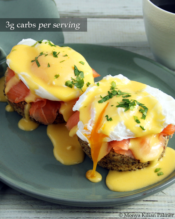 Keto Eggs Benedict with Salmon