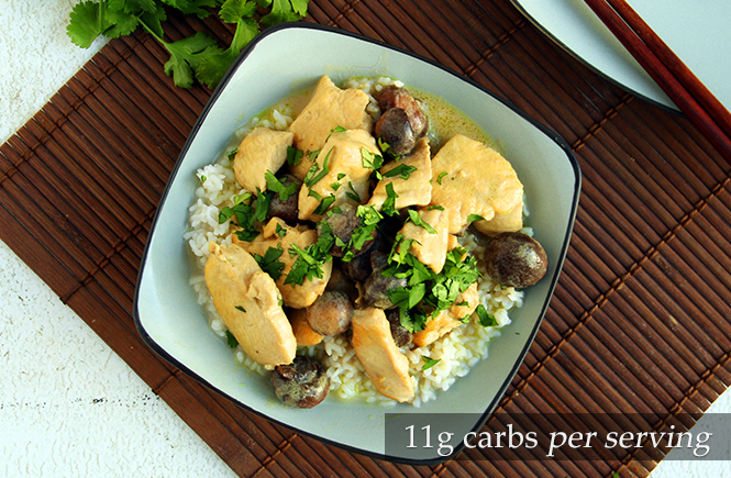 Low carb Thai Green Curry Chicken