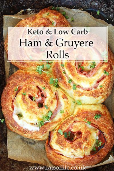 Ham & Gruyere Rolls (using Fathead Dough)