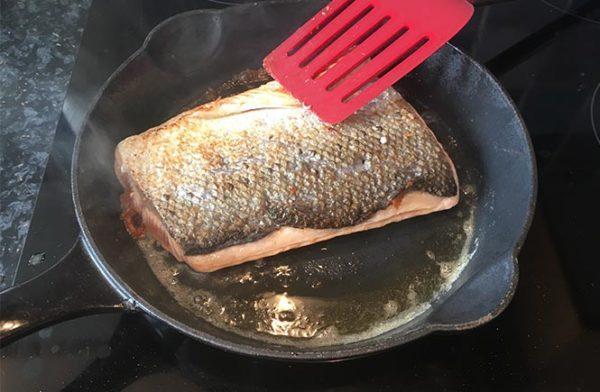 Salmon Baked in Cream