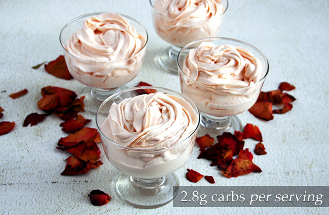 Keto Low carb Turkish Delight Mousse