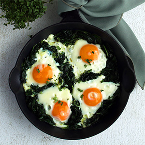 Eggs in Spinach