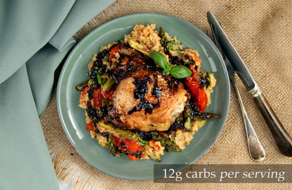 Chicken and Veg with Balsamic Drizzle