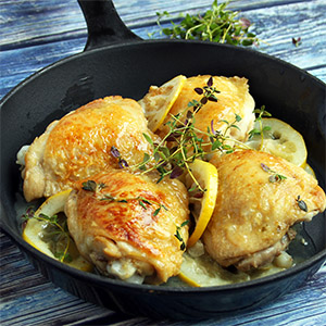 Chicken with Lemon and Glaze