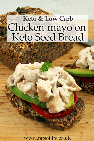 Chicken Mayo Sarmies (using Keto Seed Loaf)