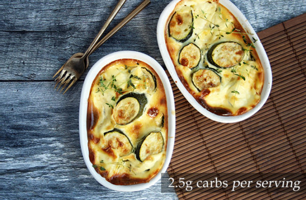 Keto Courgettes baked in Cream