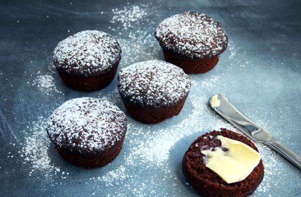 High-fibre Chocolate Muffins