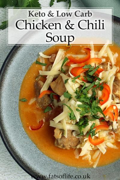 Keto Chicken and Chilli Soup