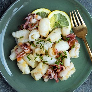 Keto Coconut-dusted Squid