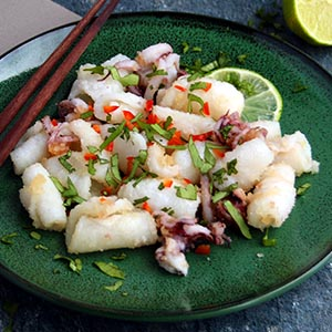 Keto Fried Squid with Coriander