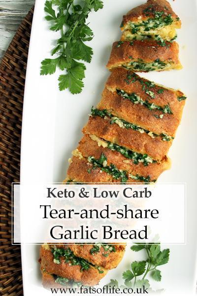 Tear-and-share Garlic Bread (Keto)