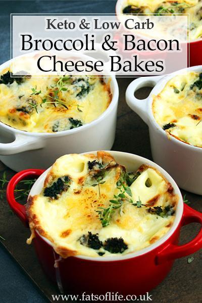 Broccoli and Bacon Cheese Bakes (Keto)