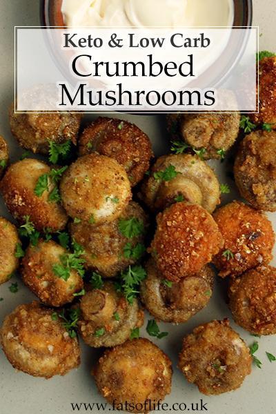 Crumbed Mushrooms (Keto)