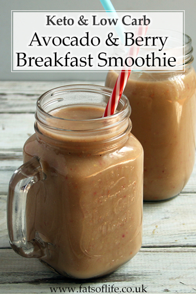 Breakfast Avocado & Berry Smoothies