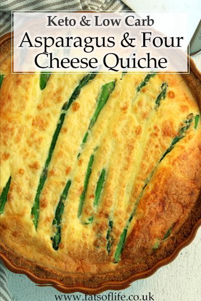 Asparagus & Four-Cheese Quiche (Keto)