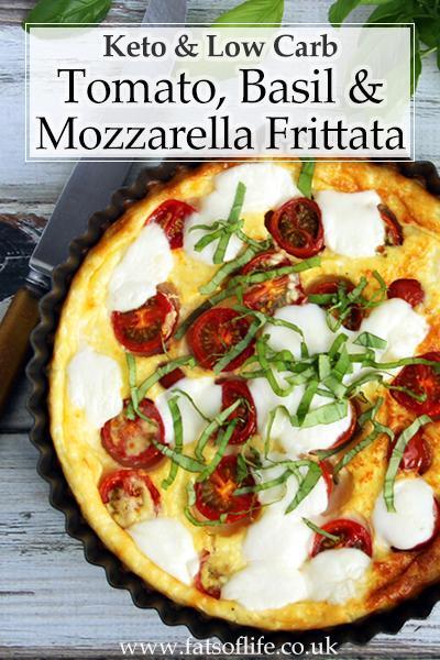 Tomato, Mozzarella & Basil Frittata (Keto)
