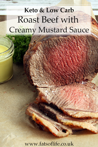 Roast Beef with Creamy Hot Mustard Sauce