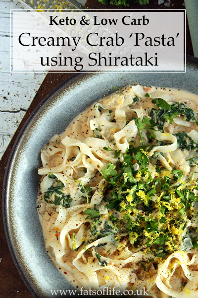 Creamy Crab & Spinach \'Pasta\' with Lemon and Parsley