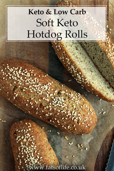 Soft Keto Hot Dog Rolls