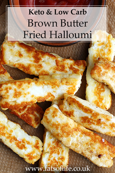 Brown Butter Fried Halloumi (Keto)